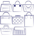 set of outlined woman handbags vector image