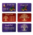 Set of six cards printing for your design needs vector image