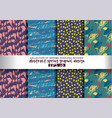 set spring floral background color seamless vector image