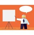 teacher shows on board vector image