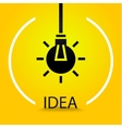 The silhouette of the bulb vector image