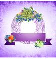 Vintage Easter Decorative Wreath vector image