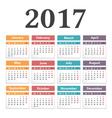 2017 Calendar vector image vector image