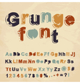 Retro grunge font vector image vector image