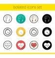 Cardio training icons vector image