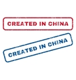 Created In China Rubber Stamps vector image