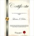 Certificate template vector image