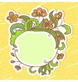 doodle sticker vector image