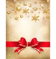 Golden Christmas Decoration EPS 10 vector image vector image