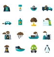 Pollution Icon Flat vector image