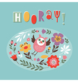 cute card with funny owl vector image vector image
