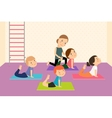 Kids yoga with Instructor vector image vector image