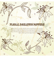 Floral romantic pattern vector image vector image