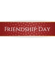 Friendship Day red bend Ribbon vector image