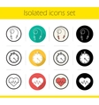 Cardio training icons vector image