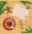 christmas celebration with hot cocoa vector image