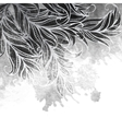 Grayscale watercolor painting design vector image