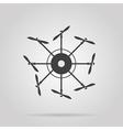 icon for quadrocopter vector image
