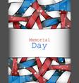 memorial day design vector image