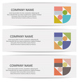 Set of banners with abstract geometric colored vector image