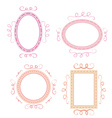 Set of cute hand-drawn empty retro frames vector image