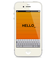 Smartphone with touch keyboard vector image