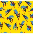 Superman Seamless Pattern vector image
