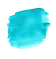 Turquoise watercolor spot vector image
