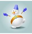 Very surprised snowman vector image