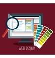 Web design development vector image