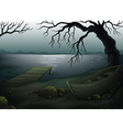 Cool creepy forest vector image