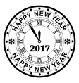 new year 2017 rubber stamp vector image vector image