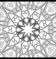 vintage mandala bohemian decoration scheme vector image