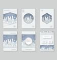 paper silhouette urban landscape city real estate vector image