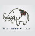 color elephant vector image