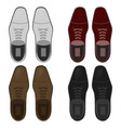 Top view shoes flat vector image