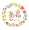 Wreath and Bike vector image vector image