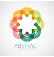 Symmetric abstract geometric shape vector image