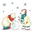 Funny polar bears vector image