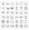 Line Internet of Things Design Icons Big Set vector image vector image