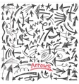 arrows - doodles set vector image