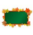 autumn blackboard vector image