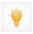 Creative light bulb symbol vector image