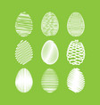 easter egg set white scribble effect on vector image