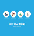 flat icon church set of church architecture vector image