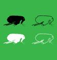 flea icon black and white color set vector image