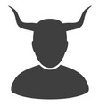 horned user flat icon vector image