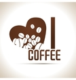 I love coffee background vector image