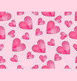 seamless pattern with hearts symbol of love vector image
