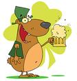 Happy St Patricks Day Bear vector image vector image